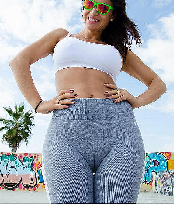 Leggings: see through, yoga pants - Wheretoget